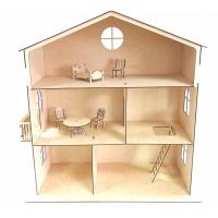 Кукольный дом с балконом